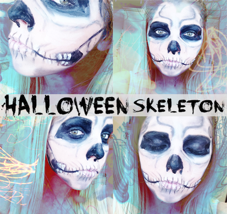 halloween makeup tutorial skeleton polished couture