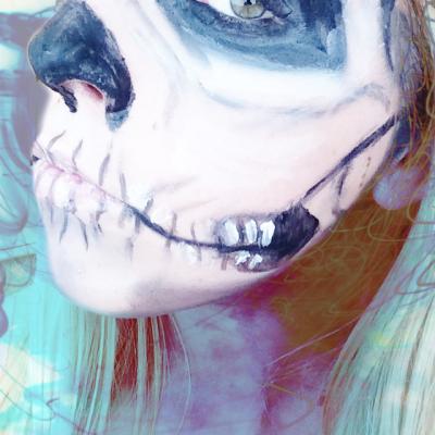 halloween skeleton polished couture