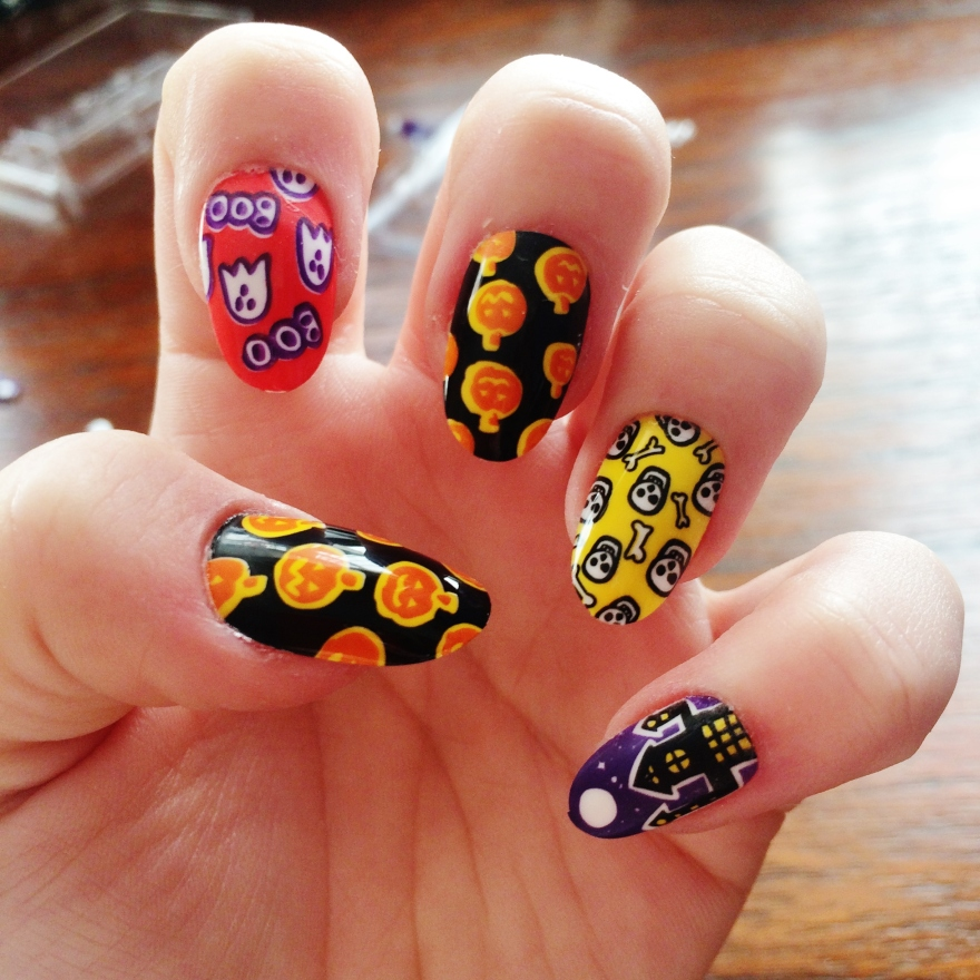Trick or treat halloween nails polishedcouture