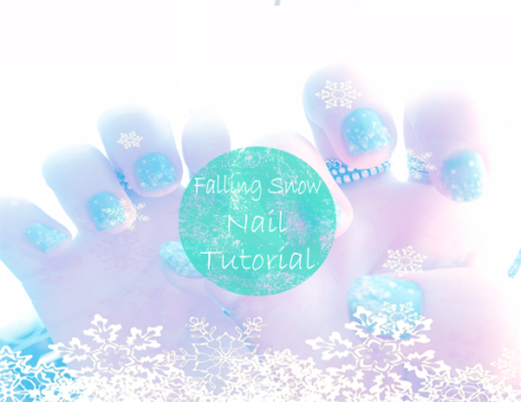 Falling Snow Nail Tutorial Polished Couture