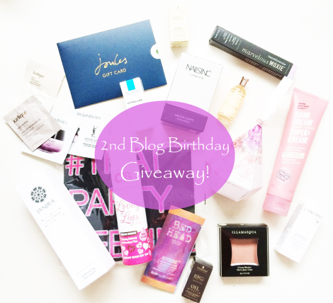 2nd blogbirthday + giveaway